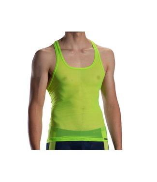 Olaf Benz  Doorzichtig Halter shirt <neon green> - Olaf Benz RED1872