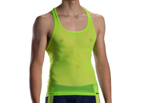 Olaf Benz  Doorzichtig Halter shirt <neon green> - Olaf Benz RED1872