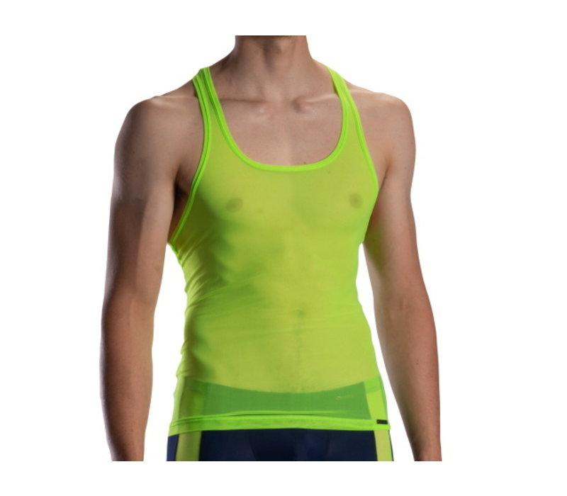 Doorzichtig Halter shirt <neon green>