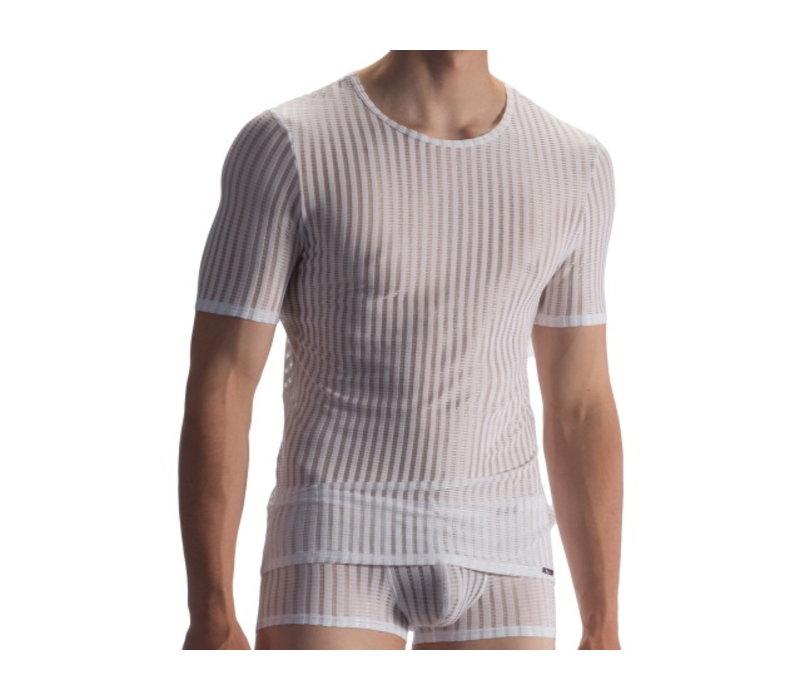 T-shirt soft stretch <white>