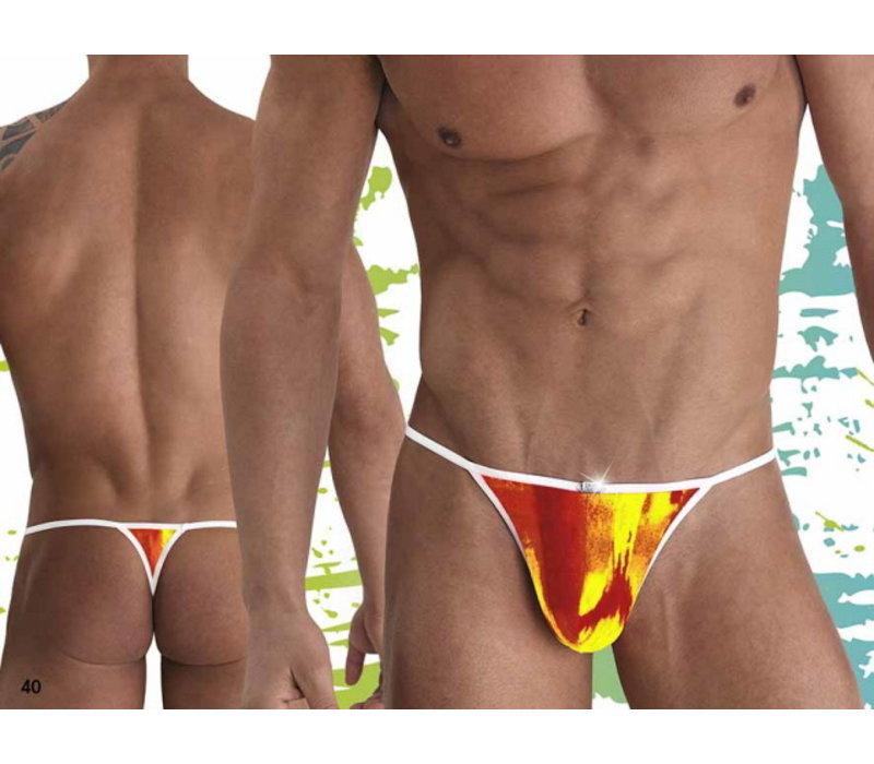 Zwem string <oranje/geel>