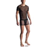 Manstore T-shirt <zwart doorzichtig> ·M863·