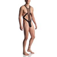 Manstore Kinky String Body <zwart doorzichtig> ·M863·