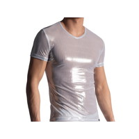 Manstore V-shirt glimmend <wit> ·M907 NIGHTCLUB·