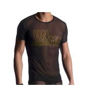 Manstore Rondhals T-shirt <zwart doorzichtig> ·M900·
