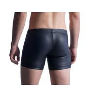 Manstore Hip Boxer Leder-Look <zwart> ·M510·