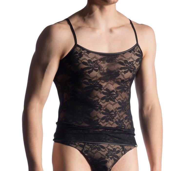 Manstore Shirt in kant met spaghetti bandjes <zwart> ·M915·