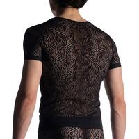 Manstore Shirt met diepe V-hals <zwart> ·M914·