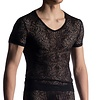 Manstore Manstore Shirt met diepe V-hals <zwart> ·M914·