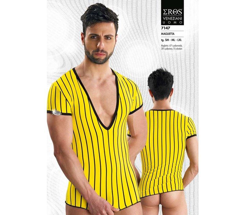 Eros Veneziani V-shirt <geel> ·7147·