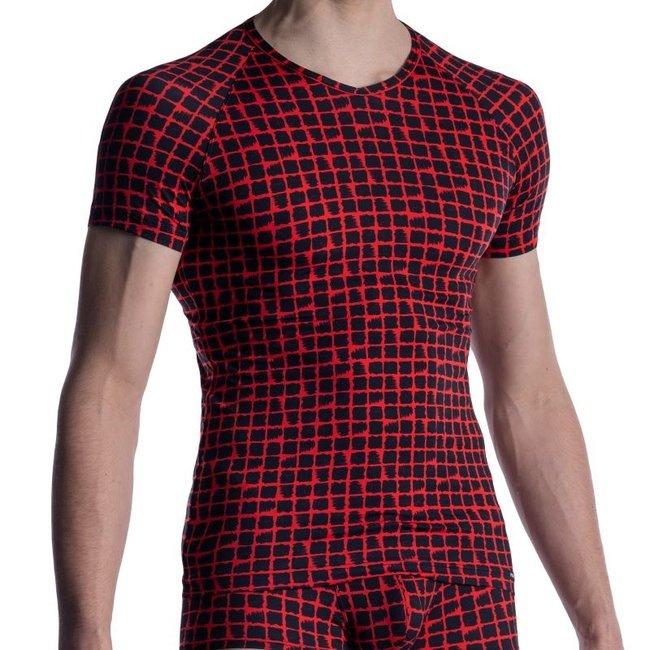 Manstore V-shirt <red/black> ·M800·