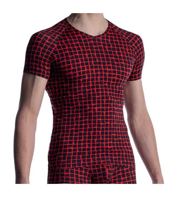 Manstore Manstore M800 V-shirt <red/black>