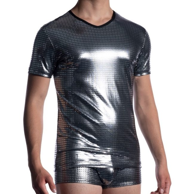 Manstore V-Shirt <platin> ·M2058·