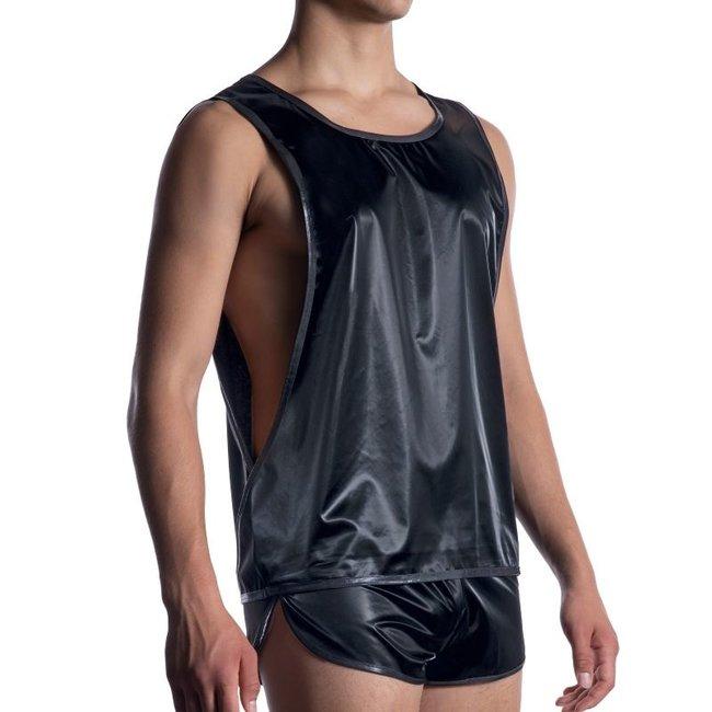 Manstore Freak Shirt semi lack <black> ·M2055·