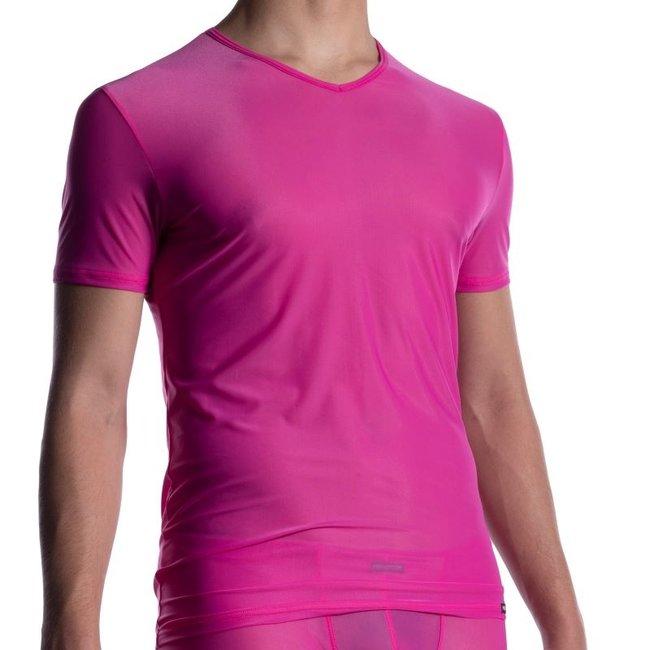 Manstore V-shirt <fuxia> ·M2056·