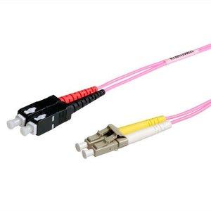Fiber optic patch cord 50/125 OM4 SC-LC 3 meter