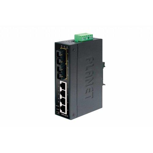 Planet Gigabit Ethernet Switch, 4 Port RJ45 + 2 Port SC Singlemode