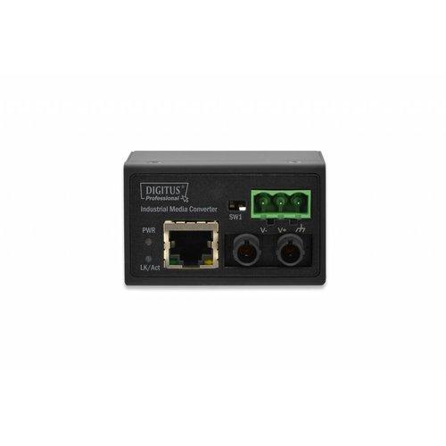 Mini industrial media converter ST Fast Ethernet