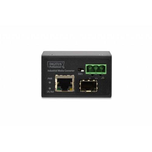 Mini industrial media converter 10/100 TX to 100 SFP