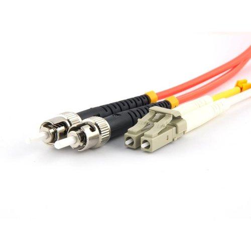 Fiber optic patch cord 62,5/125 OM1 LC-ST 10 meter