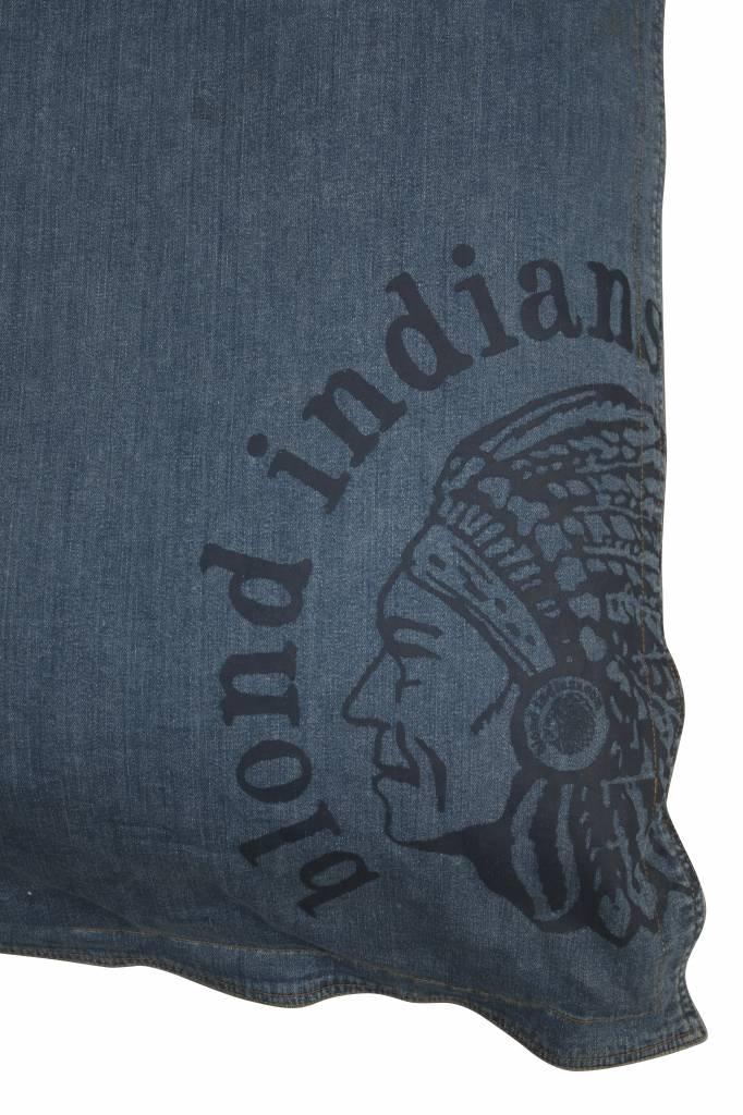 Blond Indians Beanbag  Large: Stone Blue Denim