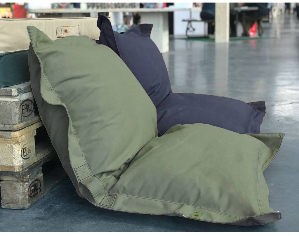 Blond Indians Small Beanbag: Army Green Heavy Duty