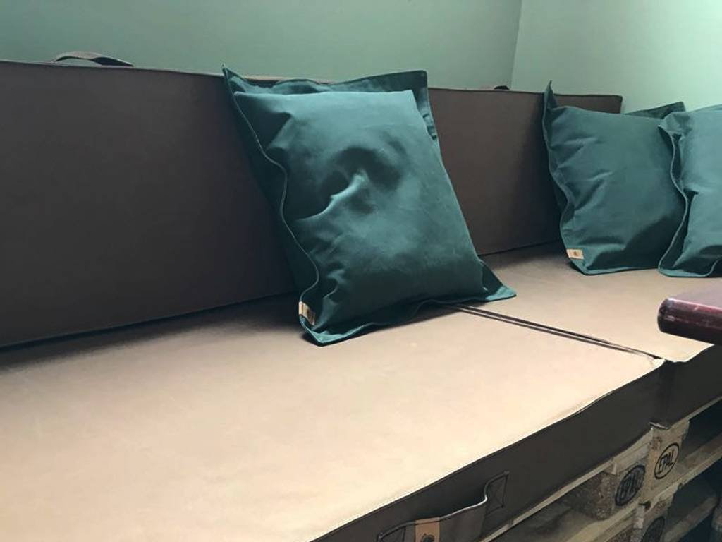 Blond Indians Lounge Cushion: Army Green Heavy Duty