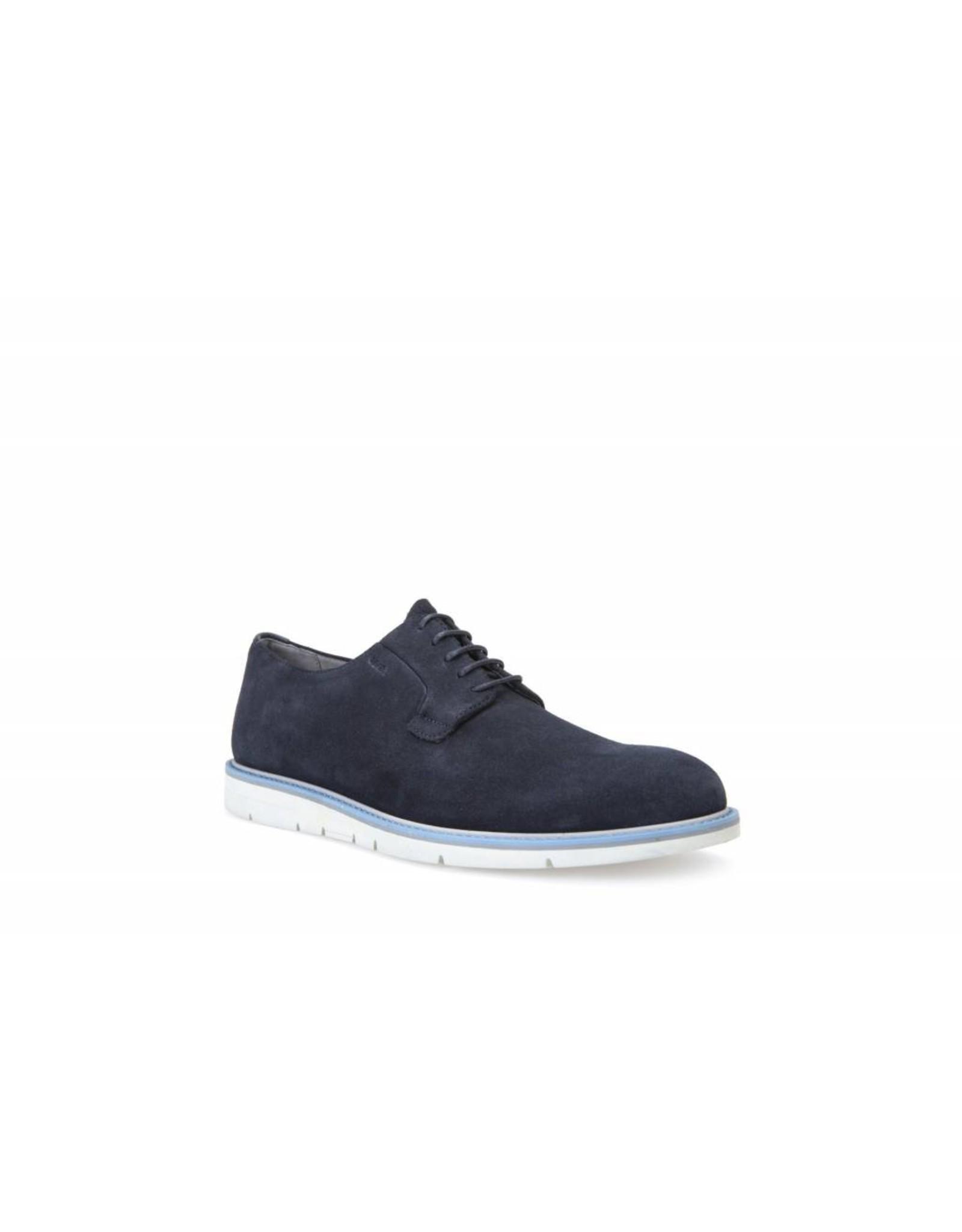 Geox Uvet Navy Suede Shoe