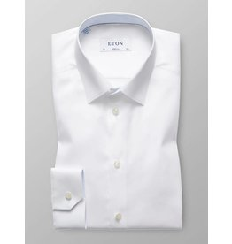 Eton Plain Slim Fit Shirt Dot Trim