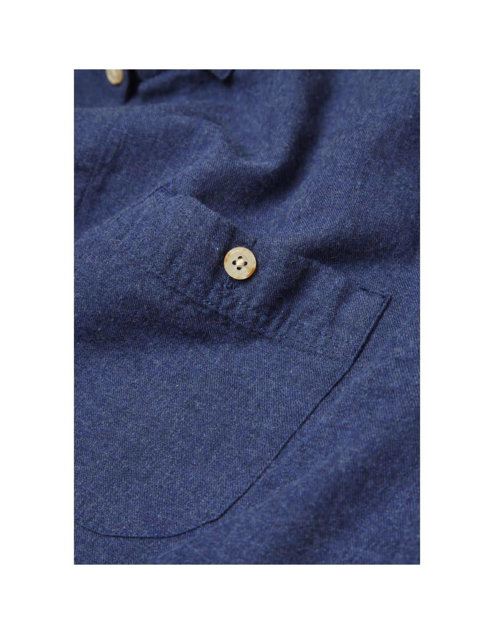 Knowledge Cotton Melange Flannel Shirt