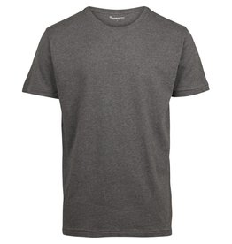 Knowledge Cotton Plain T Shirt Grey