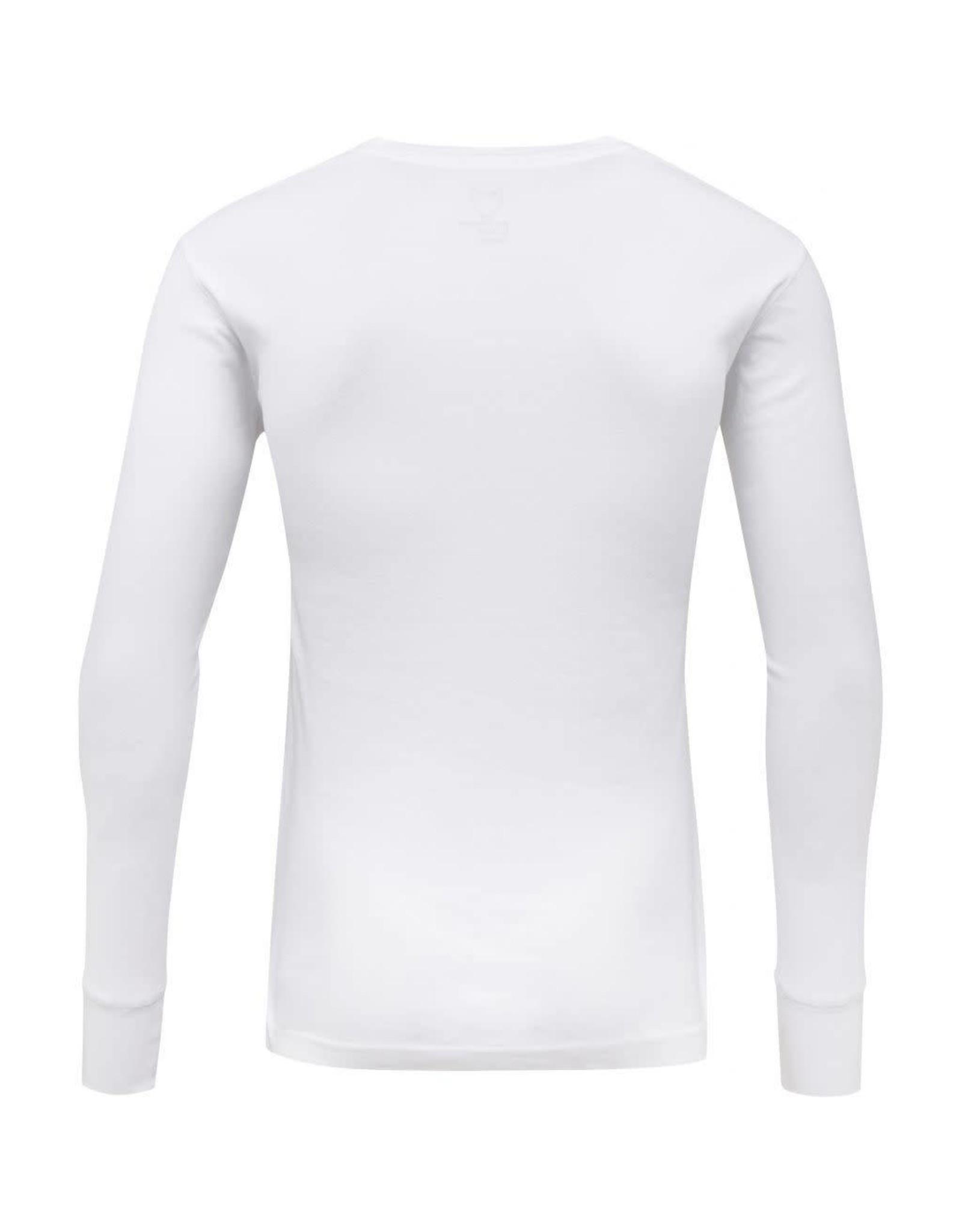 Knowledge Cotton Rib Henley Top White