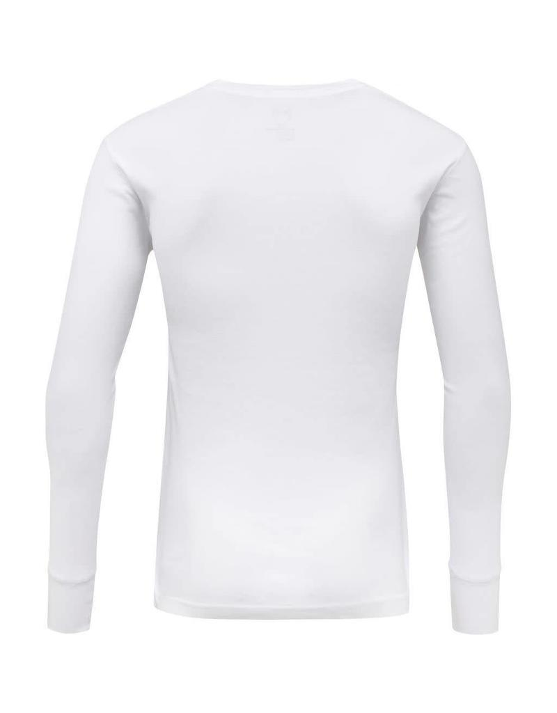 Knowledge Cotton Rib Henley Top White