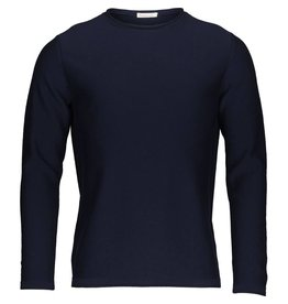 Knowledge Cotton Roll Edge Jumper Navy