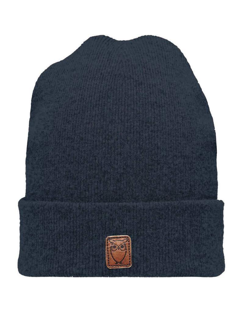 Knowledge Cotton Wool Beanie Navy