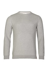 Knowledge Cotton Two Tone Pique Knit Grey