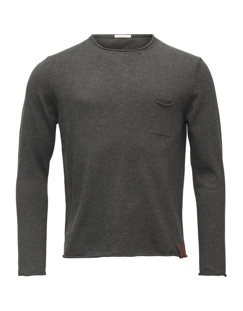 Knowledge Cotton Roll Edge Top Grey