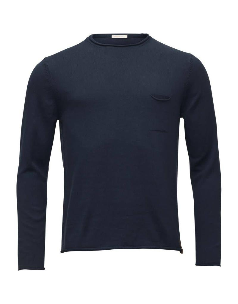Knowledge Cotton Roll Edge Top Navy
