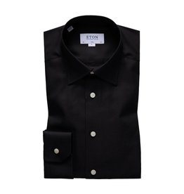 Eton Button Collar Shirt Black