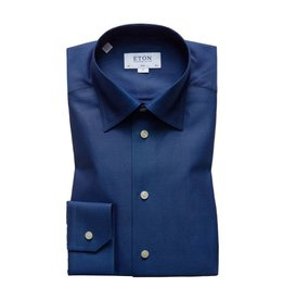 Eton Button Collar Shirt Blue