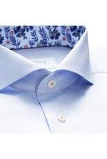 Eton Floral Trim Shirt Blue