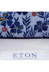 Eton Floral Trim Shirt White