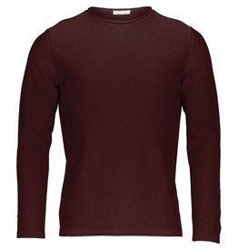 Knowledge Cotton Roll Edge Jumper Oxblood