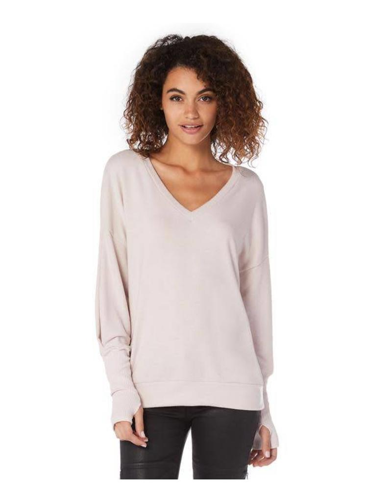 Michael Stars Madison V Top Pink