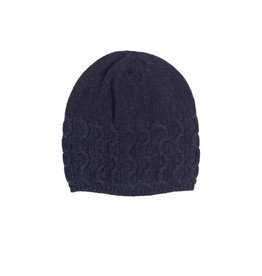 Unmade Cable Hat Navy