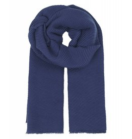 Unmade Elivre Pleat Scarf Navy