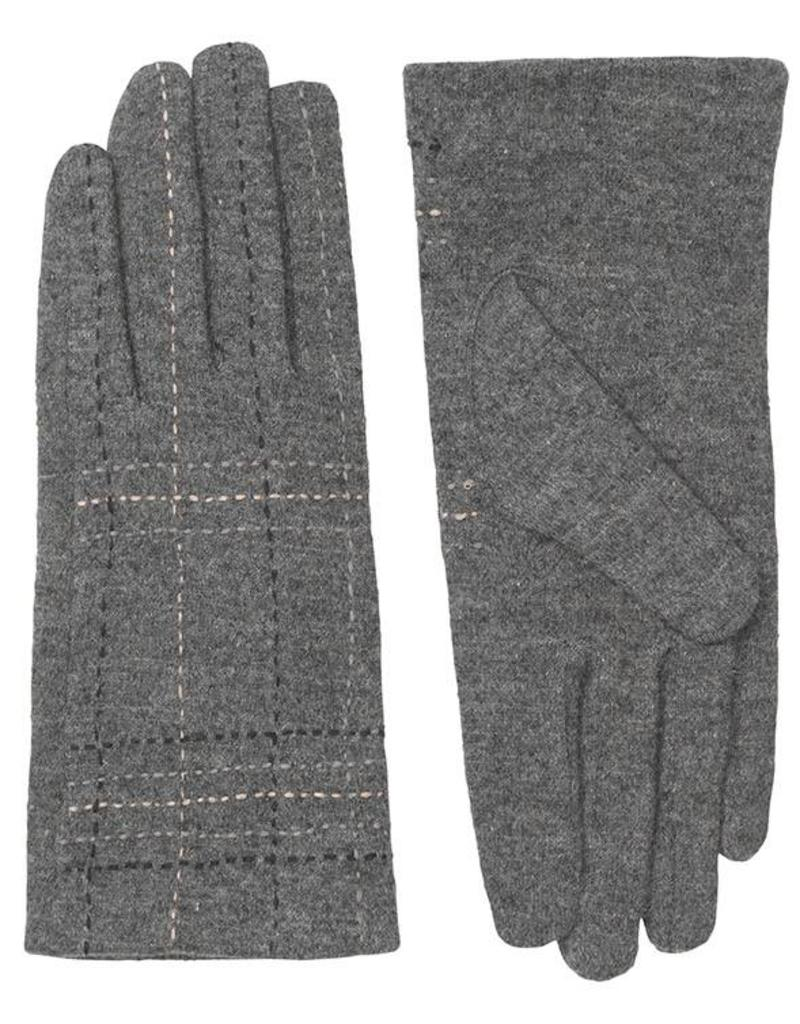 Unmade Liliane Check Glove Grey
