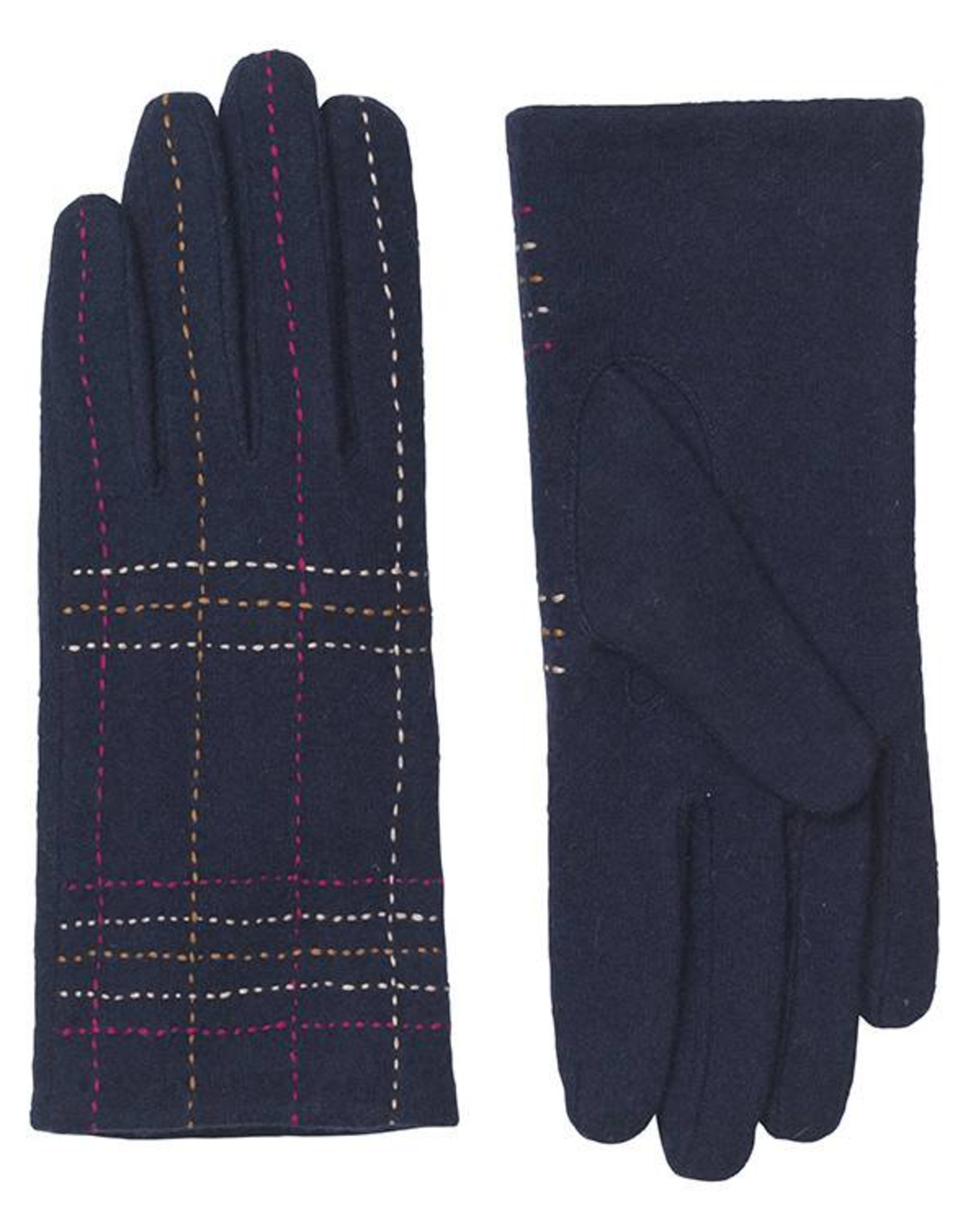 Unmade Liliane Check Glove Navy