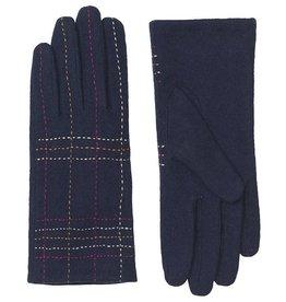 Unmade Liliane Check Glove Navy