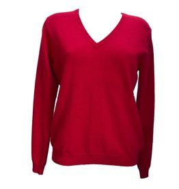 Pavilion Womens Pearl V Neck Red